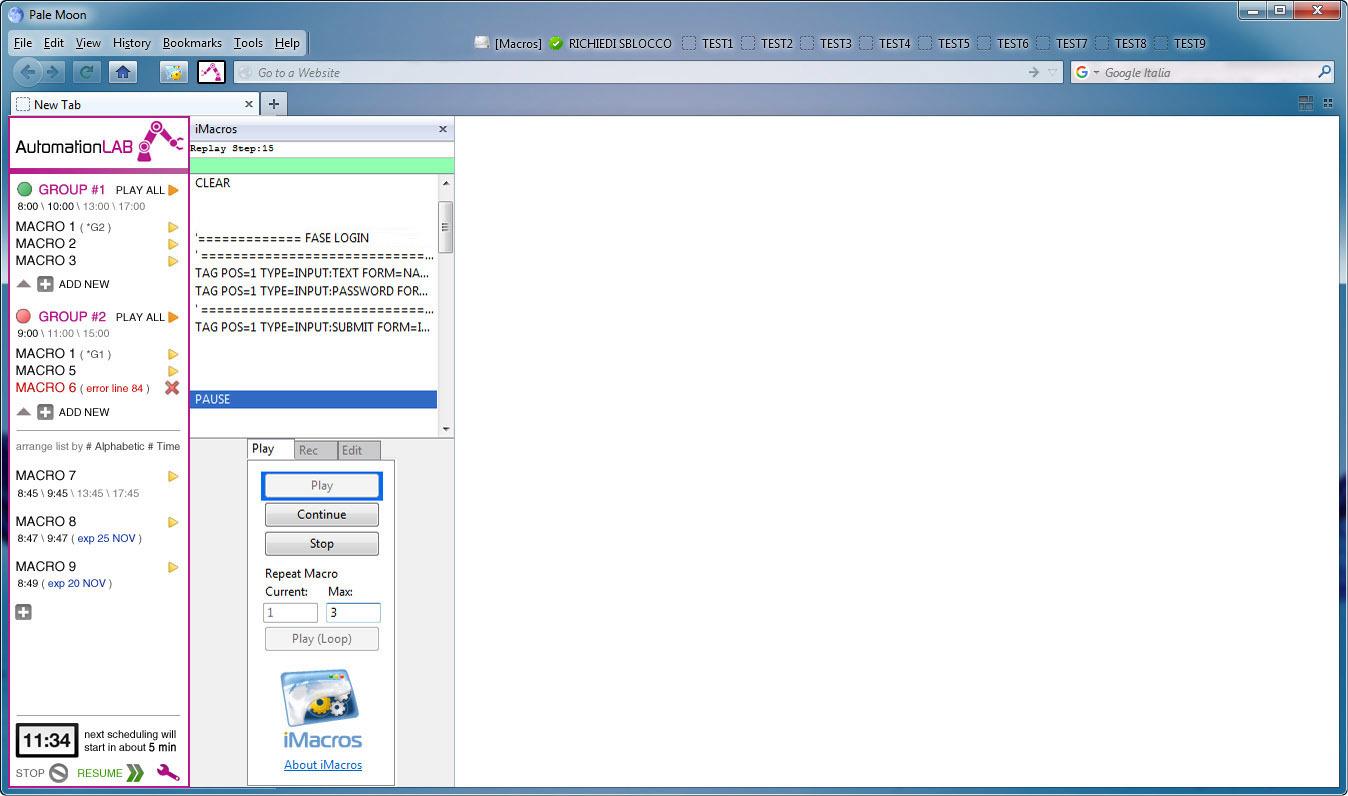 AUTOMATIONLAB \ Firefox extension development for ( Imacros